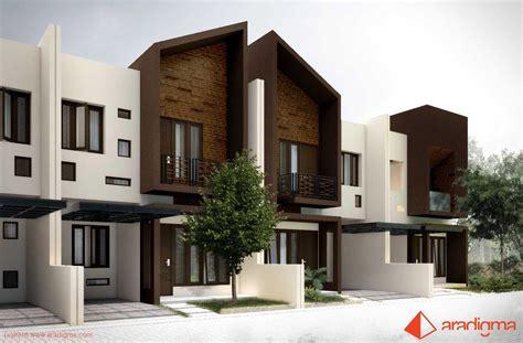 nge trend tak depan rumah minimalis 2 lantai lebar 6 meter warna monokromatik rumah arjuna karya aradigma sumber
