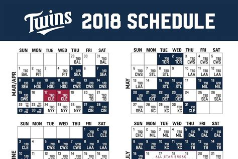printable kansas city royals baseball schedule 2018 twins 2018 season schedule released twinkie town