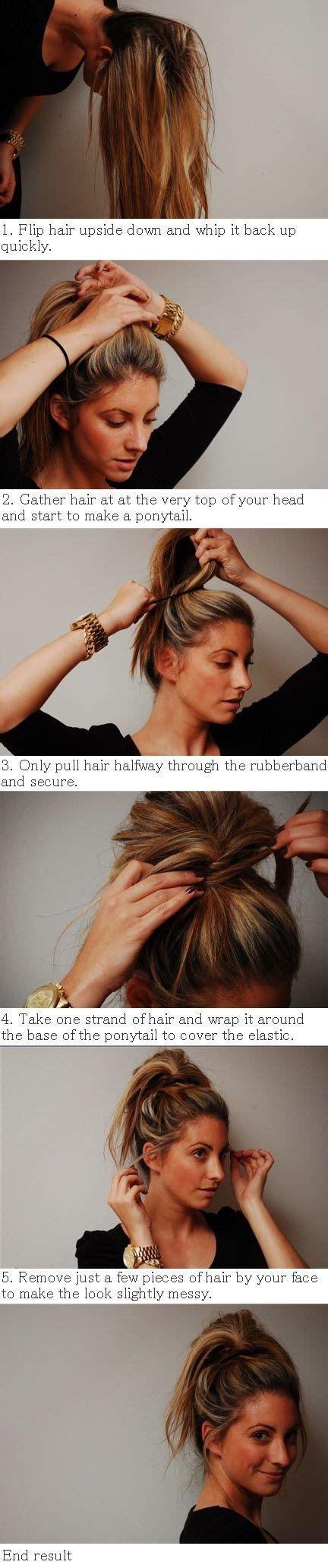 Diy Messy Bun Ponytail Hybrid Hairstyle Diy Projects