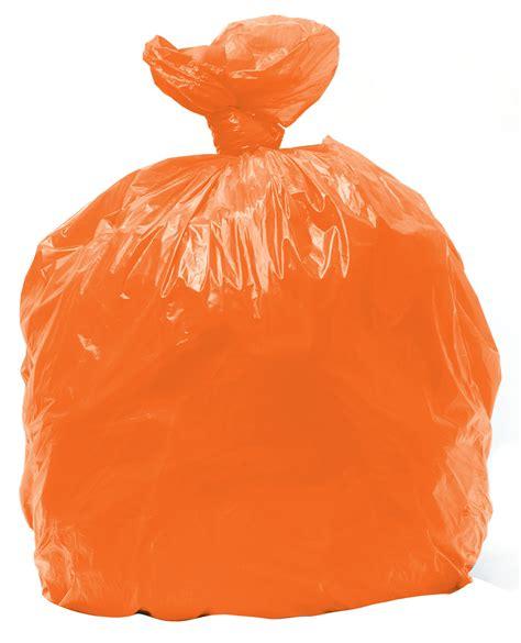 bright orange trash bags
