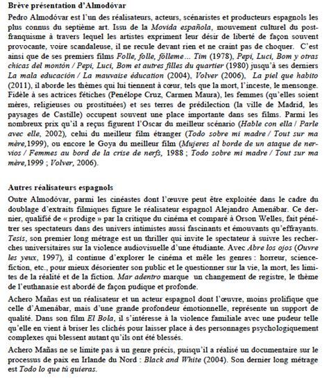 Présentation Lettre Circulaire En Espagnol Doublage D Un Extrait De Volver D Almod 243 Var Et