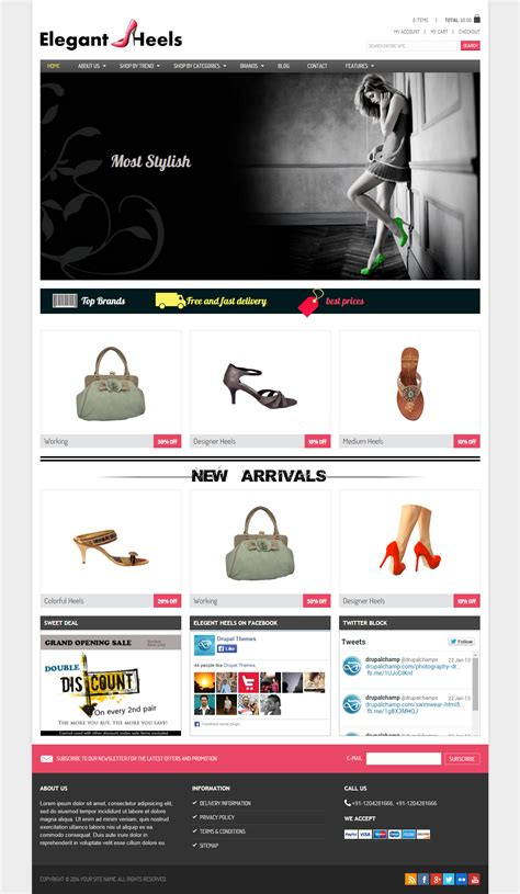 drupal themes best 2014 best responsive drupal shoes themes in 2014 responsive