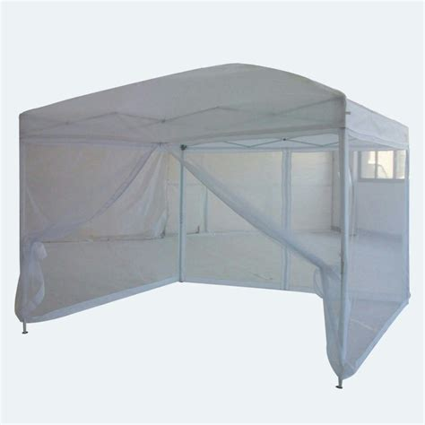 10x10 Screen Gazebo Quictent 10x10 White Pop Up Gazebo Tent Canopy Mesh