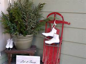 Winter Porch Decorating Ideas - christmas or winter front porch or stoop decorating idea pinpoint