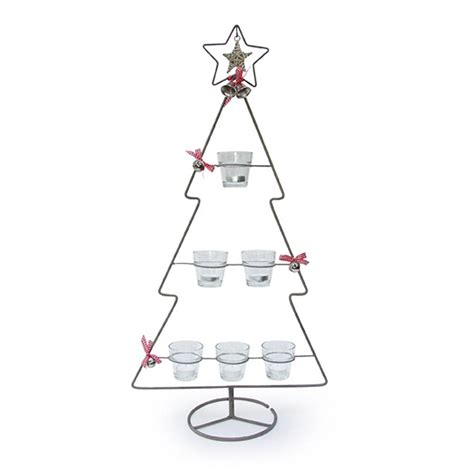 christmas tree tea light holder by little red heart