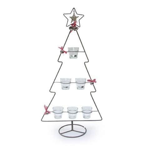 christmas tree tea light holder by little red heart