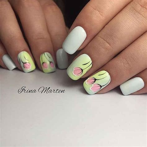 tulip flower nail art youtube 21 gorgeous floral nail designs for spring stayglam