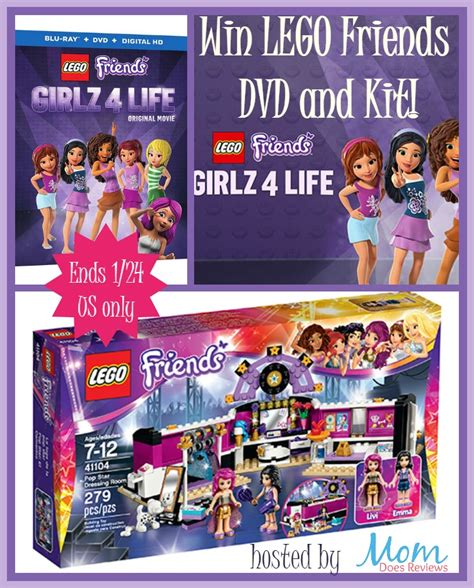 Friends Giveaway - win lego friends girlz 4 life dvd kit it s free at last