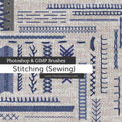 tutorial photoshop gimp stitching sewing photoshop gimp brushes obsidian dawn
