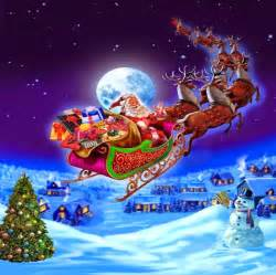 Images of santa claus rides his sleigh pictures photos download for