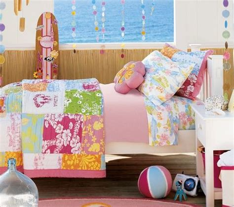 girls surf bedroom island surf quilted bedding pottery barn kids there is no place like home pinterest