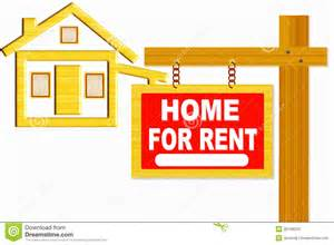 Home Design Board home for rent sign board with post and home icon design