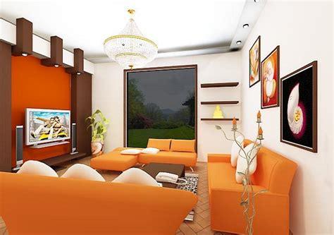 Orange Color For Living Room by Modern Living Room With Orange Color D S Furniture