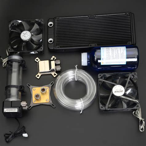 shop fans water cooled syscooling pc water liquid computer cooler kits