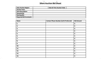 bid sheet template silent auction bid sheet templates creative template