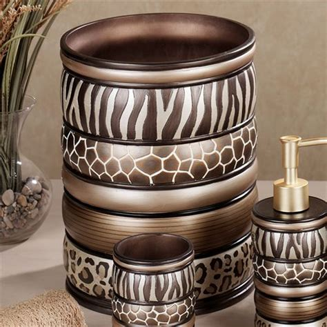 Safari Stripes Animal Print Bath Accessories Animal Print Bathroom Accessories