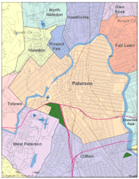 map of paterson new jersey editable paterson nj city map illustrator pdf