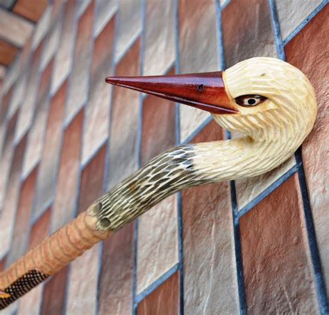 Handmade Walking Sticks For Sale - 35 inch stork canes walking sticks wooden handmade sale