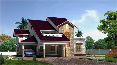 luxury home plans with pictures 3200 sq luxury house plan elevation home kerala plans