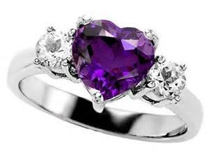 amethyst engagement rings white gold fashion female