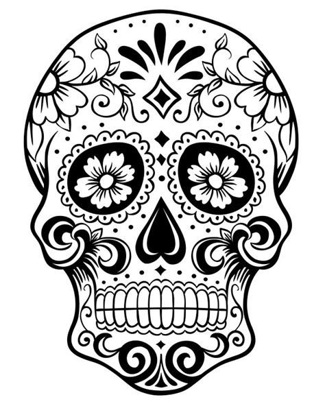 sugar skull coloring page pdf printable day of the dead sugar skull coloring page 1