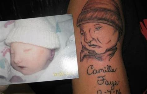 ugliest tattoos bad ideas like to look expensive too the ugliest baby tattoos 11 pics izismile com