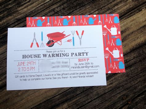 How To Ask For Gift Cards On An Invitation - house warming party invitations