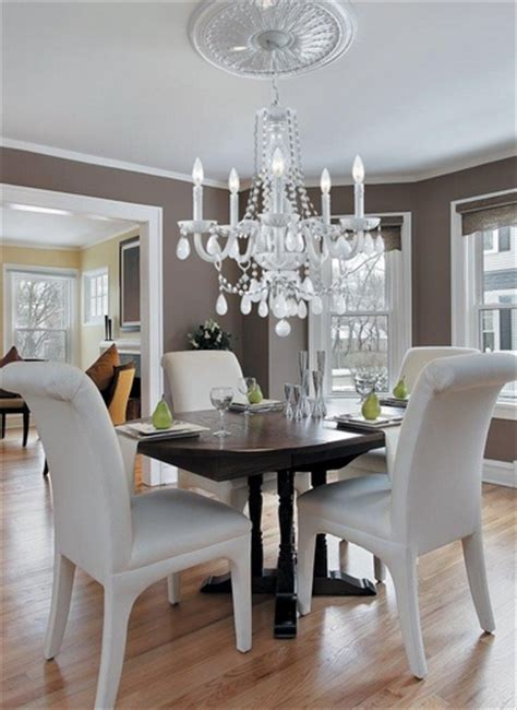 crystal chandelier dining room modern crystal dining room chandeliers with white chairs
