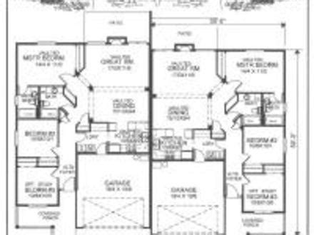single story duplex floor plans single story duplex house