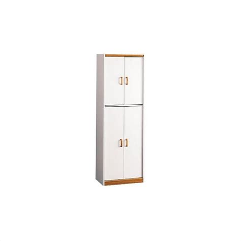 4 Door Pantry by 4 Door Storage Pantry With Oak Trim In Charleswood White