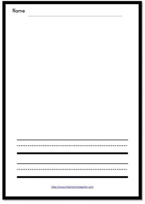 writing and drawing paper template drawing and writing printable the