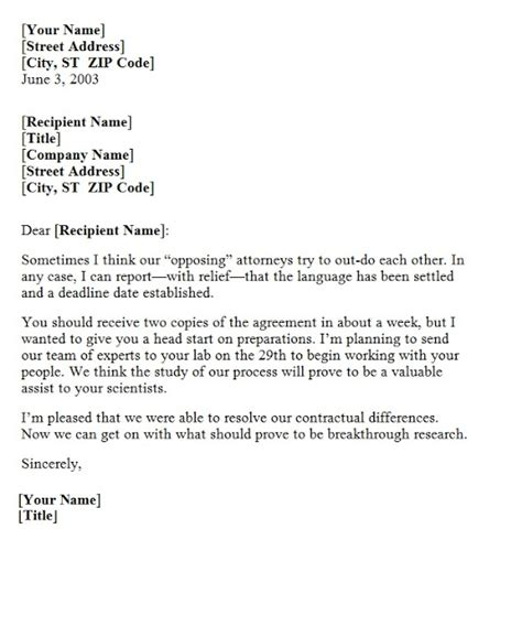 Agreement Confirmation Letter Sle Confirmation Letter Of Agreement Template Sle