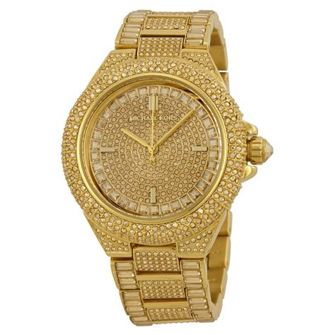 Mxxhael Kors Gold michael kors camille encrusted gold ion plated