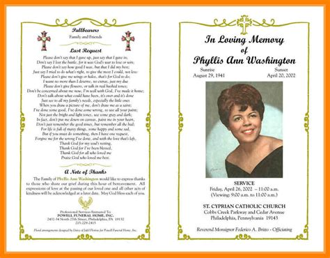 9 Free Obituary Program Templates St Columbaretreat House Obituary Template Funeral Program