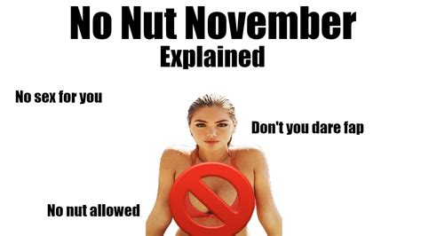 No Nut November Memes - no nut november explained youtube