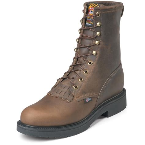 wide work boots for s justin 174 8 quot wide toe lace r boots 161765 work