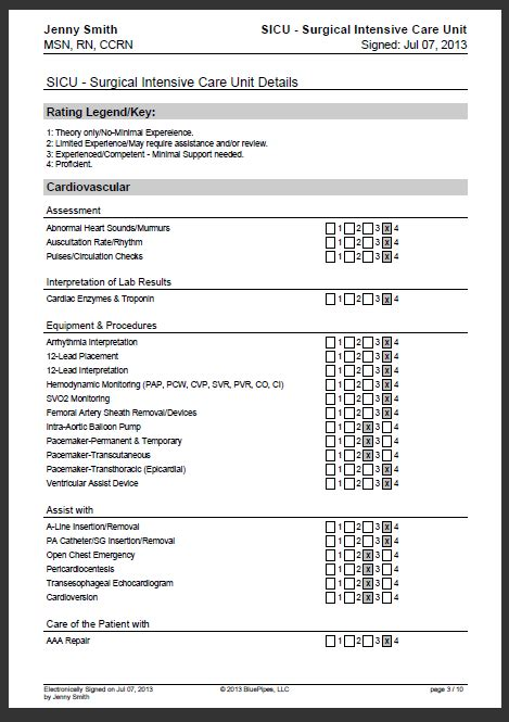 Sle Nursing Skills Checklist 187 Bluepipes Blog Nursing Assessment Checklist Template