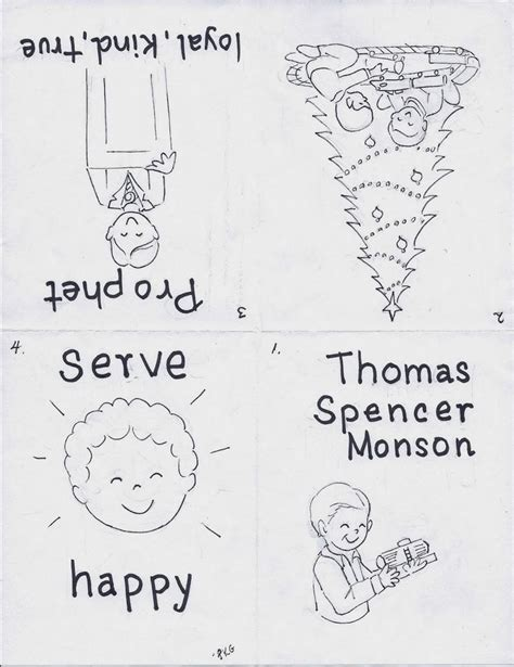 lds coloring pages follow the prophet grandma music s lds resources thomas s monson verse of