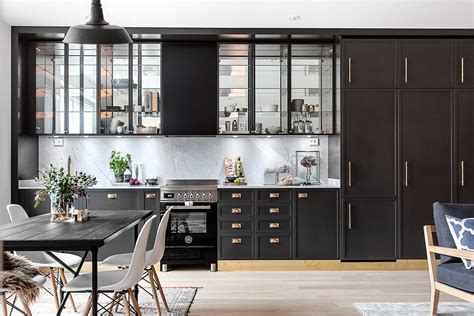 open keuken inspiratie klassieke zwarte open keuken huis inrichten