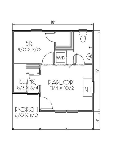 300 square feet floor plan cottage style house plan 2 beds 1 baths 300 sq ft plan