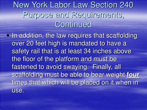 sections of the law ppt new developments in new york labor law sections 200