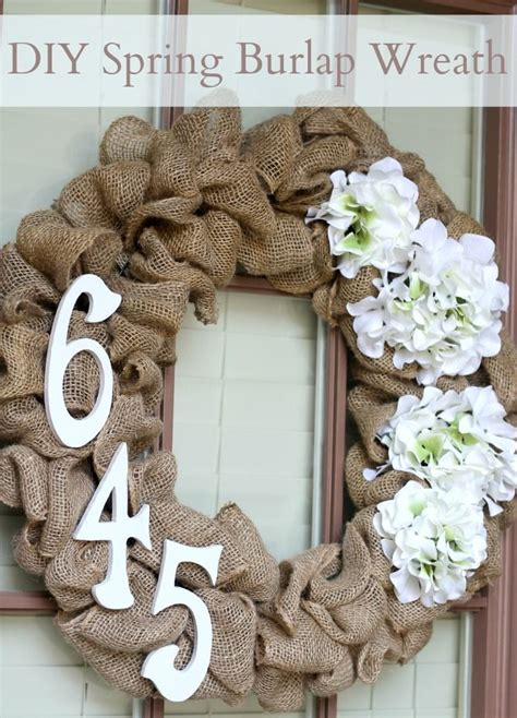 diy spring wreath diy spring burlap wreath