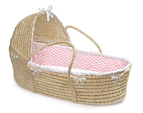 moses basket bedding badger basket 80887 hooded moses basket natural with