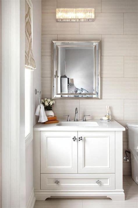 white  taupe bathroom  ann sacks tiles
