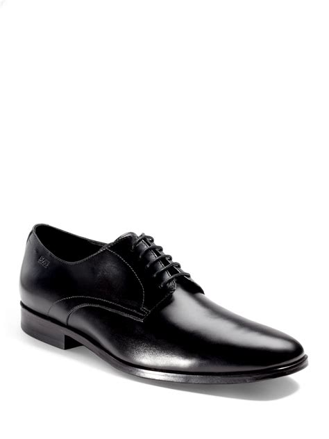 hugo oxford shoes hugo mitano plaintoe oxford dress shoes in black for