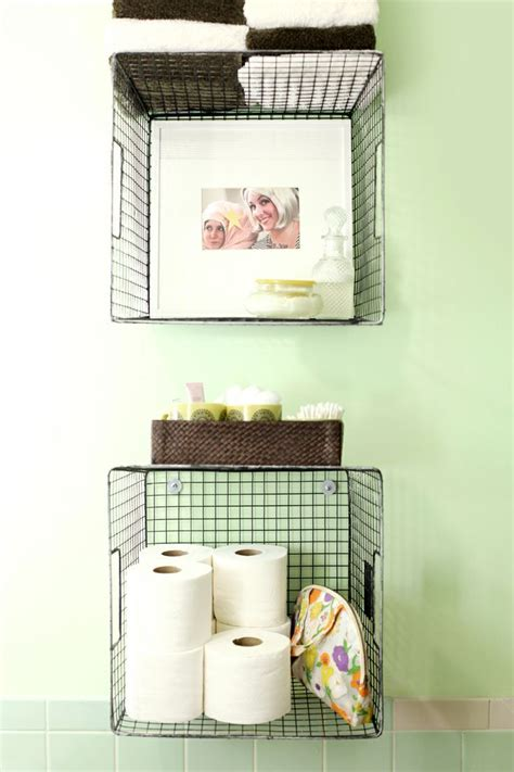 Bathroom storage with baskets 2017 grasscloth wallpaper