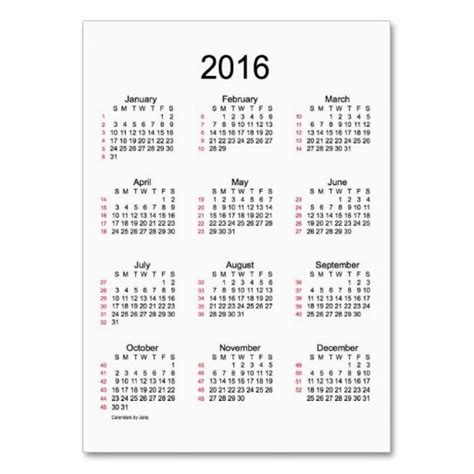 printable week numbers 2016 6 best images of 2016 calendar printable week number