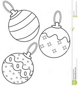 christmas balls coloring stock illustration image 52169972