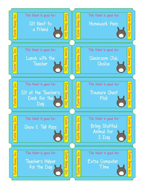 Free Easter Egg Tickets Free Printable Files For Parents Show Templates For The Classroom
