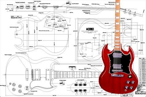 gibson sg template gibson sg 174 electric guitar plan guitar